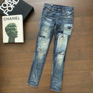 RALPH LAUREN Tompkins skinny distressed jeans